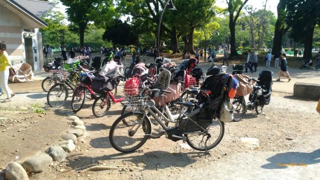Tokyo-Ueno-Ueno Koen-Playground-bikes-20180420