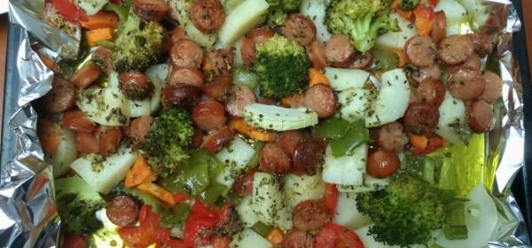 義大利烤香腸&蔬菜