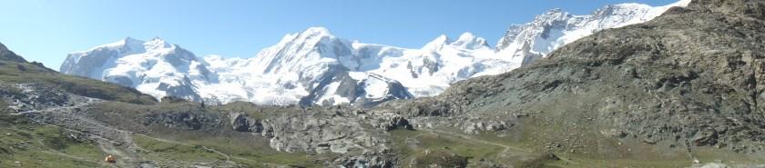 Panorama of Gornergrat Hiking