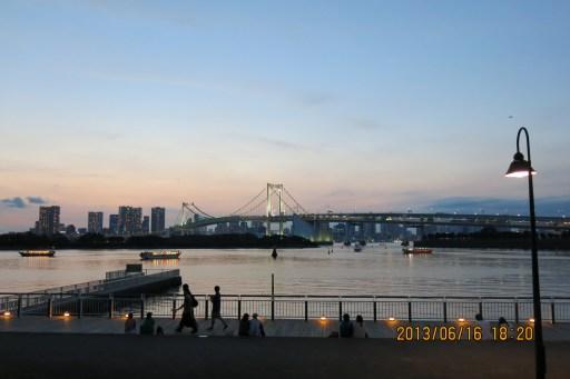東京 台場 夕陽