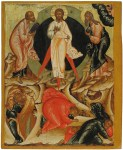 The Transfiguration, from the Feasts tier, ca. 1670. Tempera on wooden panel. 73.9 x 60.2 x 4 cm. Yaroslavl Art Museum, Yaroslavl, Russia.
