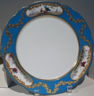 Pair of plates, Alexandrinsky Turquoise Service, 1900