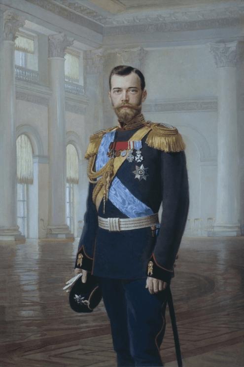 Portrait of Nicholas II, 1900. Painting.