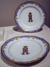 Pair of dessert plates, 1899 and 1900
