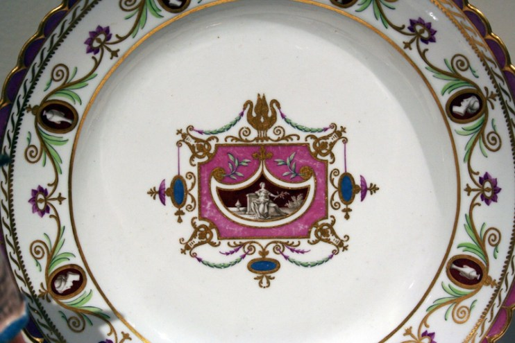 Plate from the Arabesque Service, c. 1784.