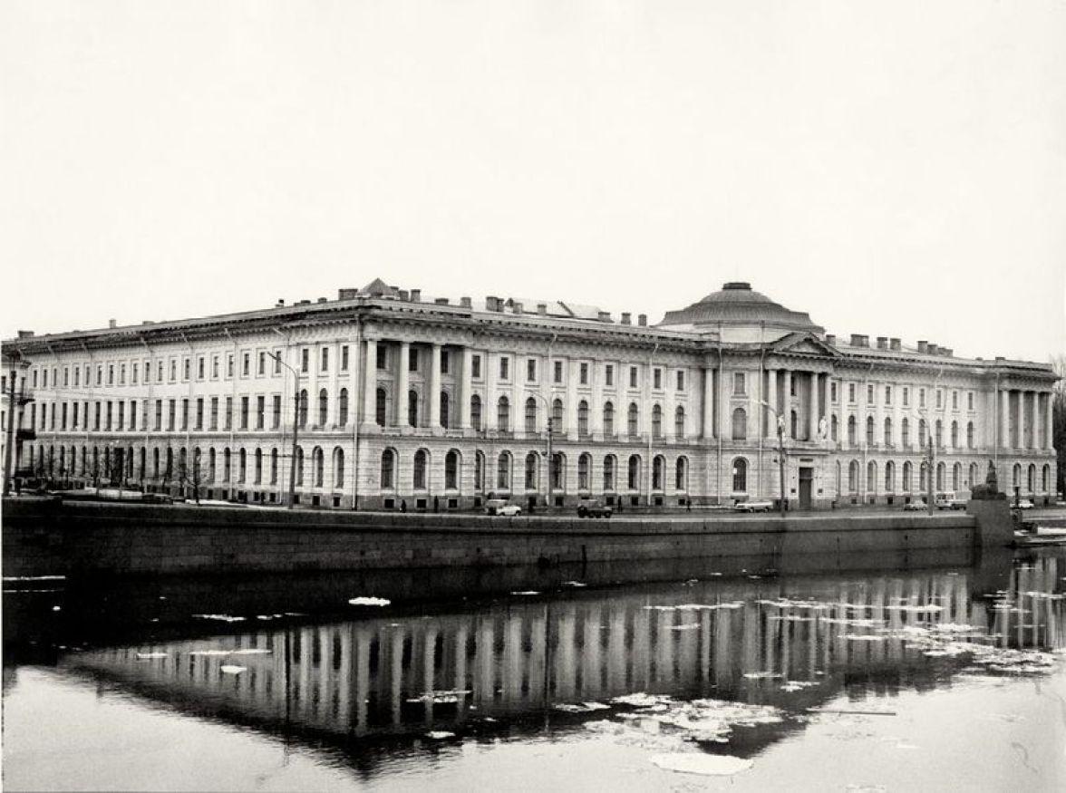 William C. Brumfield. Academy of Arts. Neva River.. 1979. Photograph. 12 x 18 in..