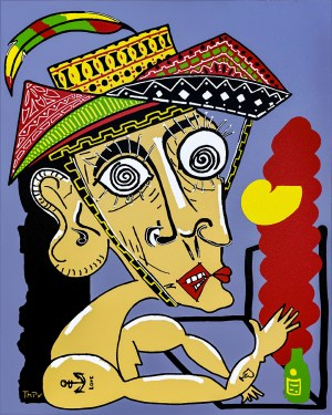 My friend Bruno and his faults - original - copy - painting neo expressionism - tmpx