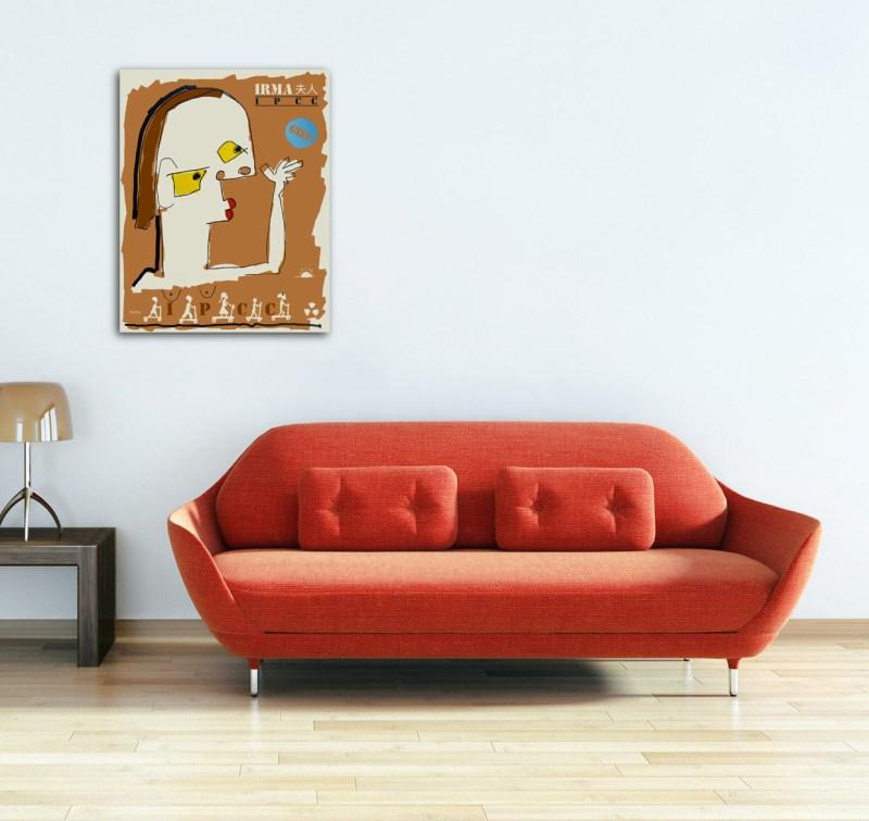 Madame IRMA - originale - peinture néo expressionnisme - tmpx
