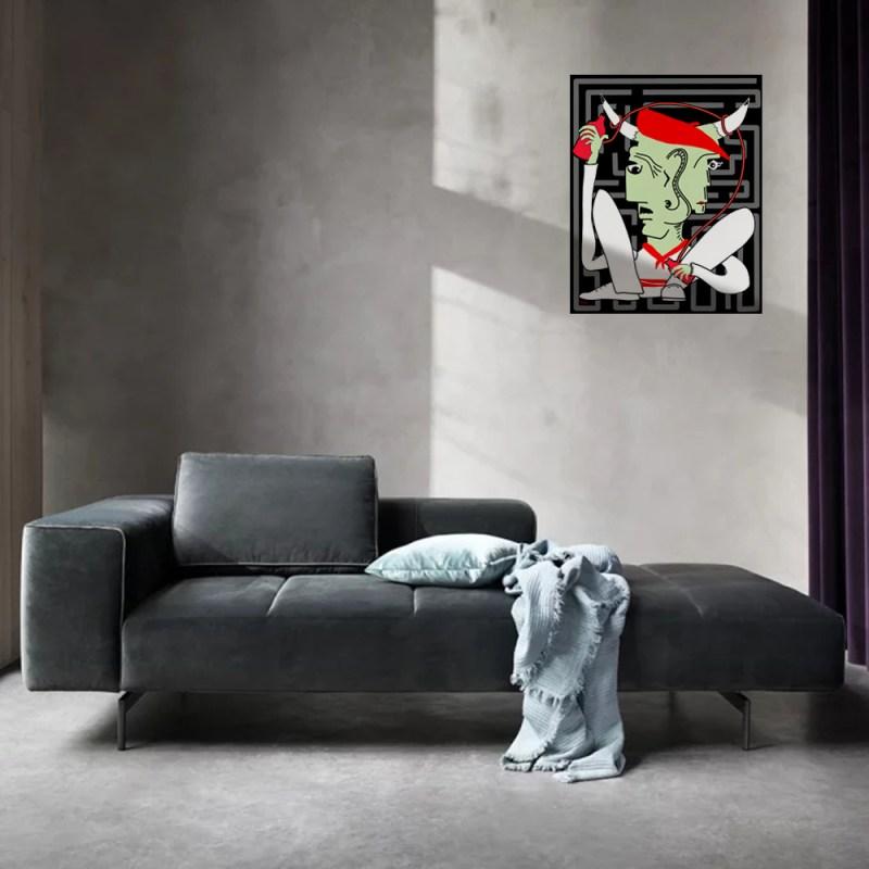 Minotaure AllCool - originale - peinture néo expressionnisme - tmpx