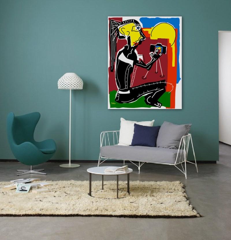 Photographe - originale - peinture néo expressionnisme - tmpx
