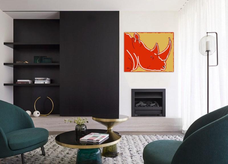 Rhinoceros 91120 - originale - peinture néo expressionnisme - tmpx