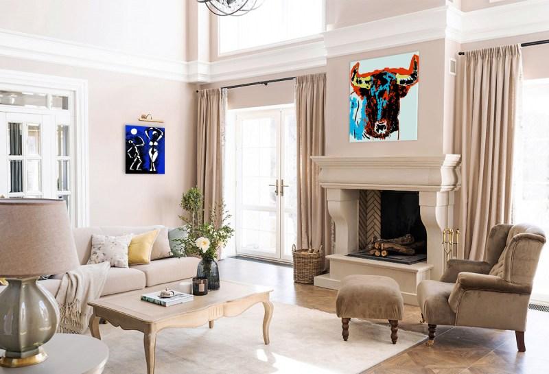 Taureau - originale - peinture néo expressionnisme - tmpx