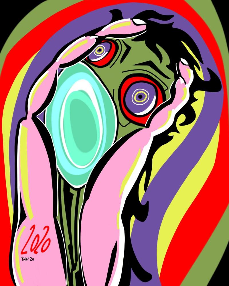 Pandėmie 2020 - originale - peinture néo expressionnisme - tmpx