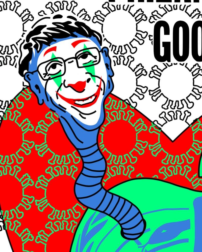 M Bill Gates - originale - peinture néo expressionnisme - tmpx