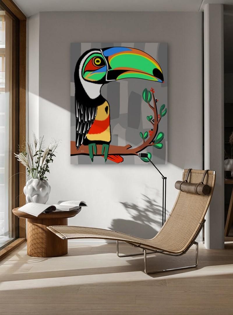 Toucan - originale - peinture néo expressionnisme - tmpx