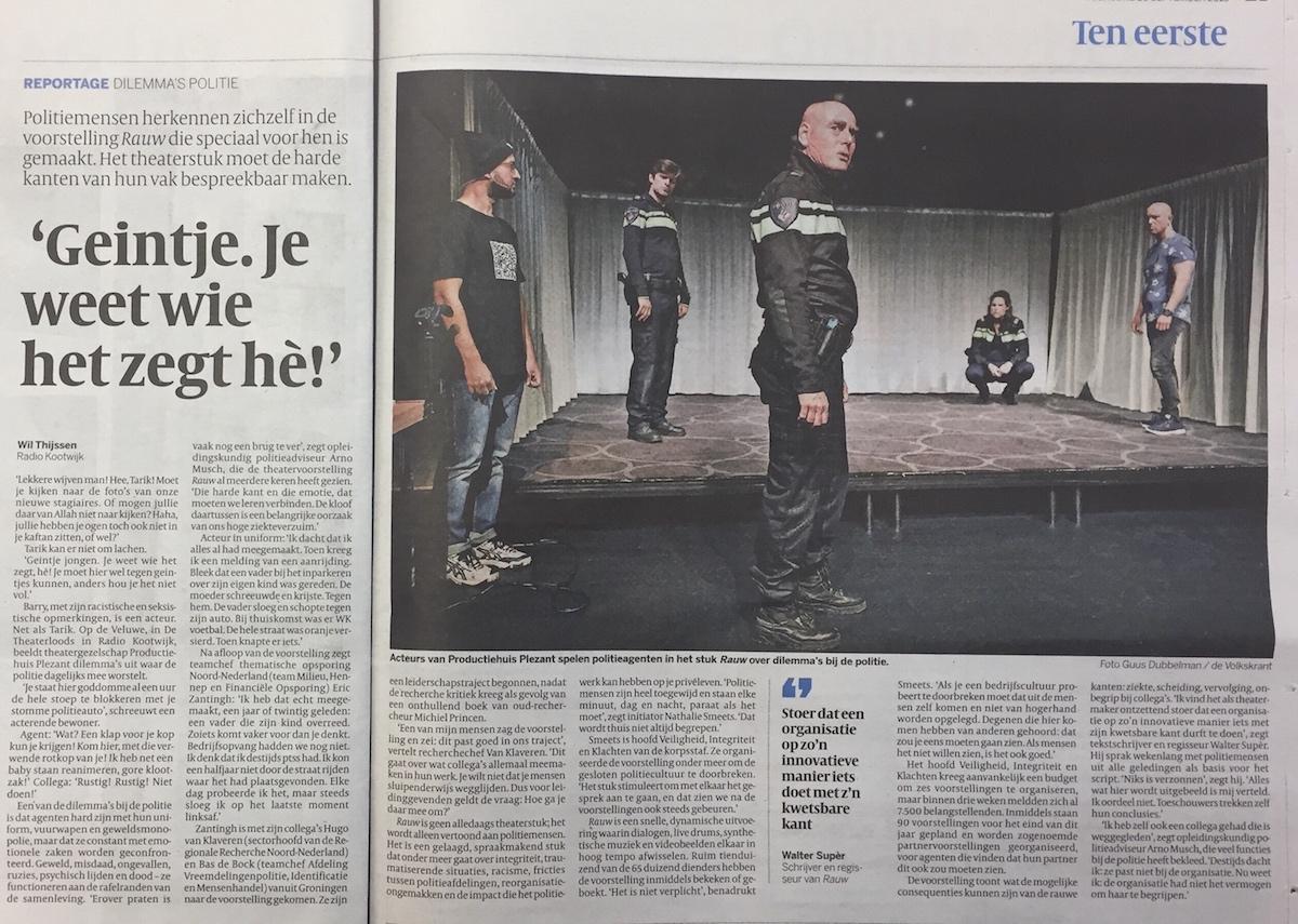 TheaterMakers Radio Kootwijk Rauw politie
