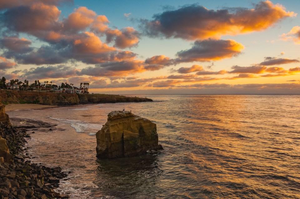 Spring Evening, Sunset Cliffs by T.M. Schultze