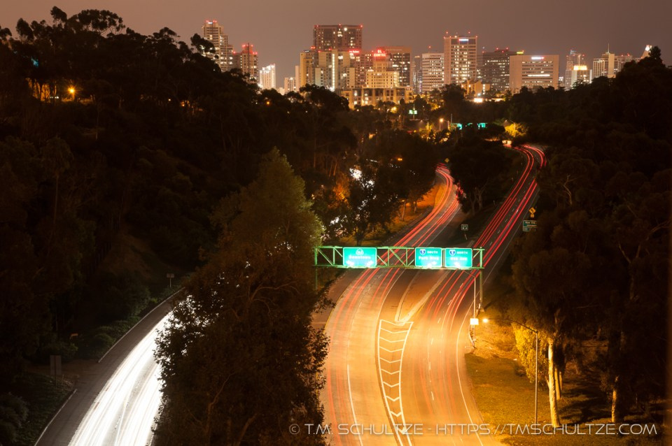 Downtown From El Prado by T.M. Schultze