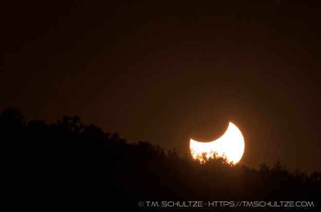 Solar Eclipse Sunset by T.M. Schultze