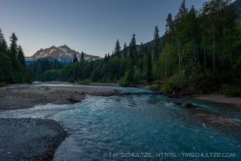 Nooksack River, Shuksan, Black and White