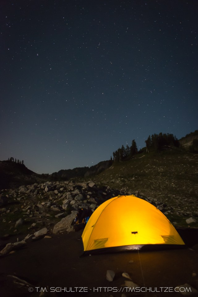 Camping At Lake Ann, North Cascades, by T.M. Schultze