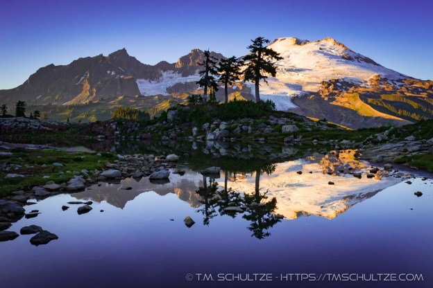 Mt. Baker Sunset by T.M. Schultze
