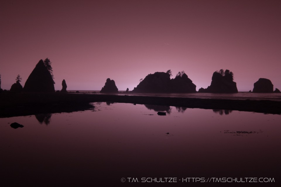 Point of Arches, Shi Shi Beach, Infrared, by T.M. Schultze