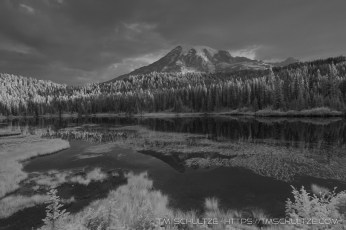 Reflection Lakes, Mt. Rainier, Infrared