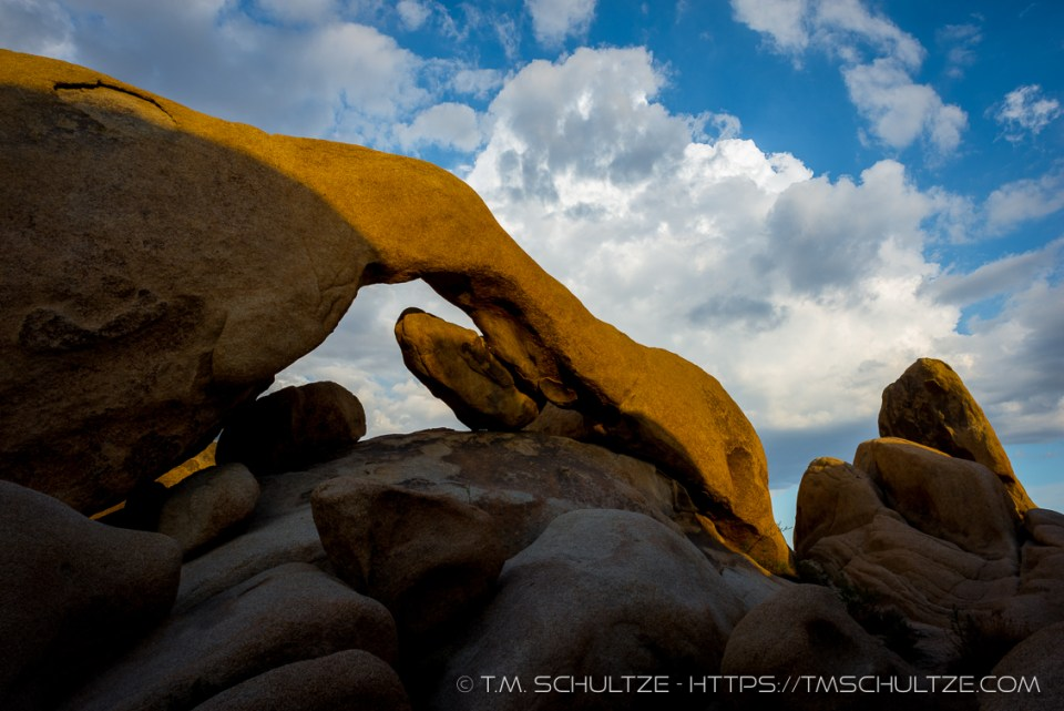 Arch Rock Last light by T.M. Schultze
