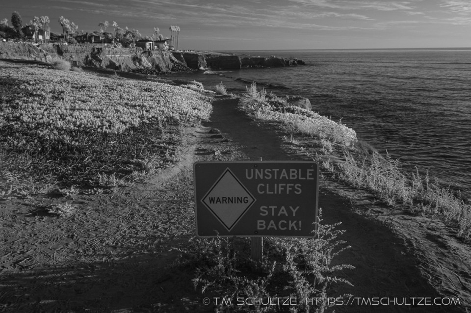 Sunset Cliffs, Infrared, by T.M. Schultze