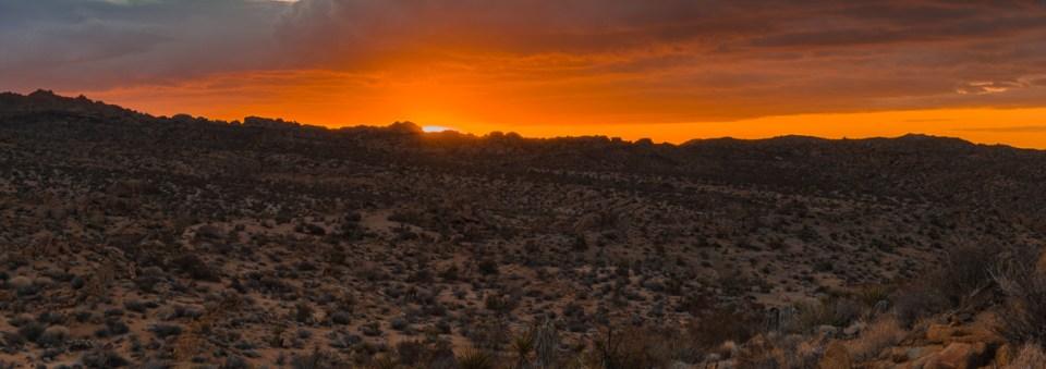 Panoramic Sunrise, Mastodon Peak, by T.M. Schultze
