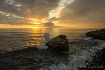 Crashing Surf, Ross Rock, Sunset