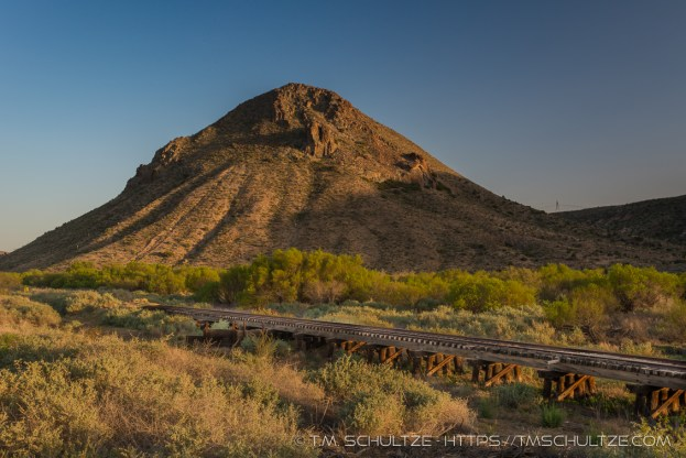 Round Mountain, Sunset by T.M. Schultze