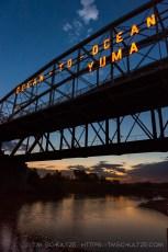 Ocean to Ocean Bridge, Twilight