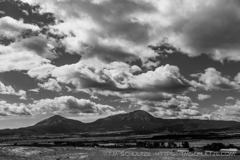 Spanish Peaks From La Veta Overlook