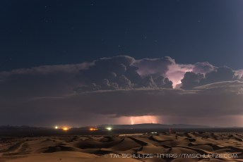 Highway 78, Glamis, Lightning