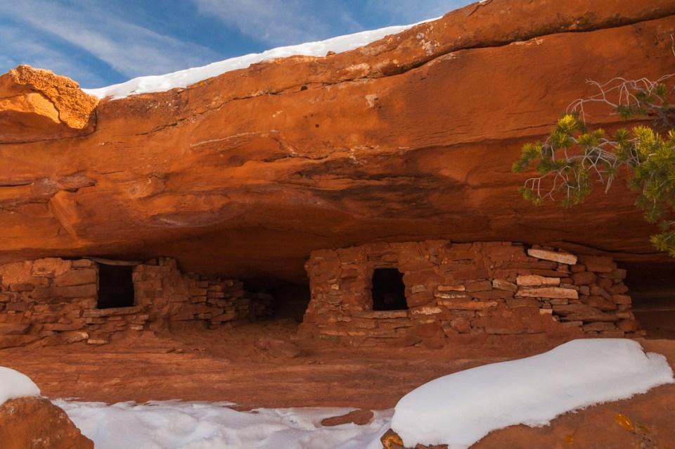 Aztec Butte In Winter, by T.M. Schultze