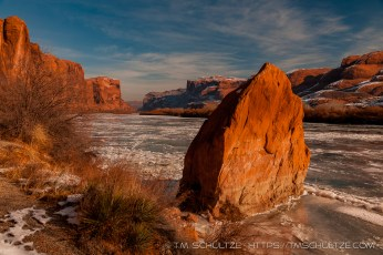 Frozen Colorado River, Moab