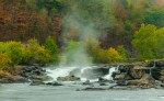 Sandstone Falls and Spray by T.M. Schultze