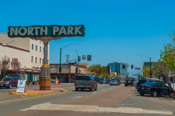 North Park Neighborhood Road Sign