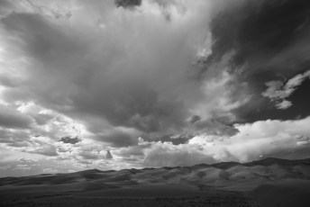 Great Sand Dunes Storm Landscape, Black and White