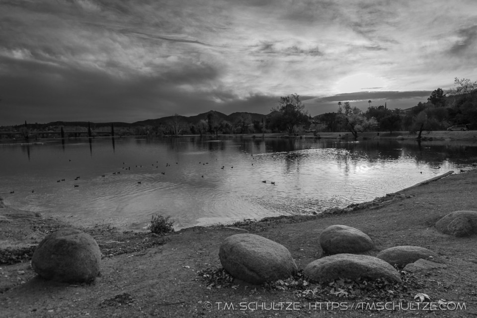 More From Santee Lakes: Coming Storm From Lake 3