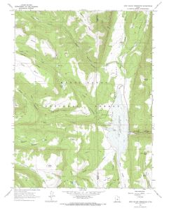 Joe's Valley Reservoir Map, 7.5""