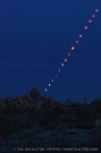 Lunar Eclipse From Joshua Tree