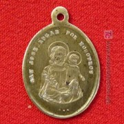 St Joseph Spanish medal offered for sale on the internet in 2017