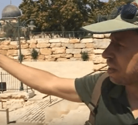 Zachi giving a tour near the Temple Mount