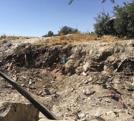 Mound of dumped Temple Mount soil.