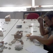 sorting artifacts for the opening exhibition