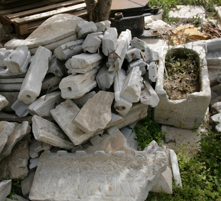 Architectural marble stones from Byzantine and Early Moslem periods