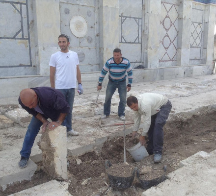 Digging trench on Temple Mount